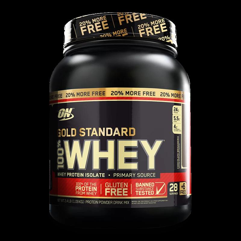100% Gold Standard + 20% Extra Free (2,4lbs/1090g) Optimum Nutrition