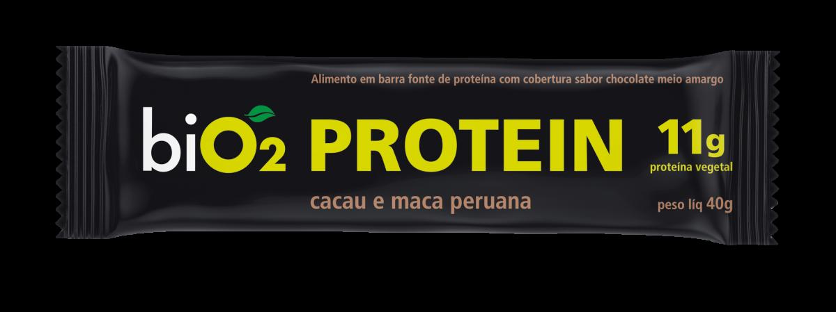 Barra de Proteína Cacau e Maca Peruana (40g) BiO2