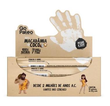Barra Go Paleo Macadamia + Coco (12unid-25g) Super Saude