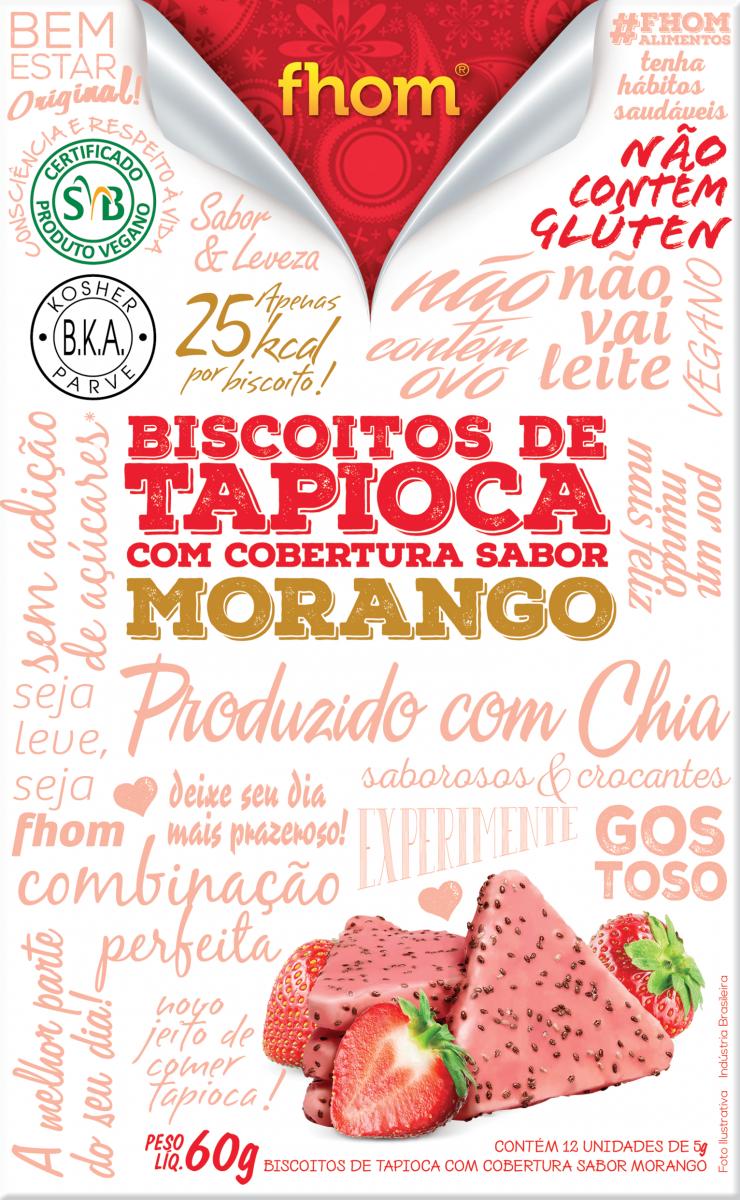 Biscoito de Tapioca com Morango (60g) Fhom