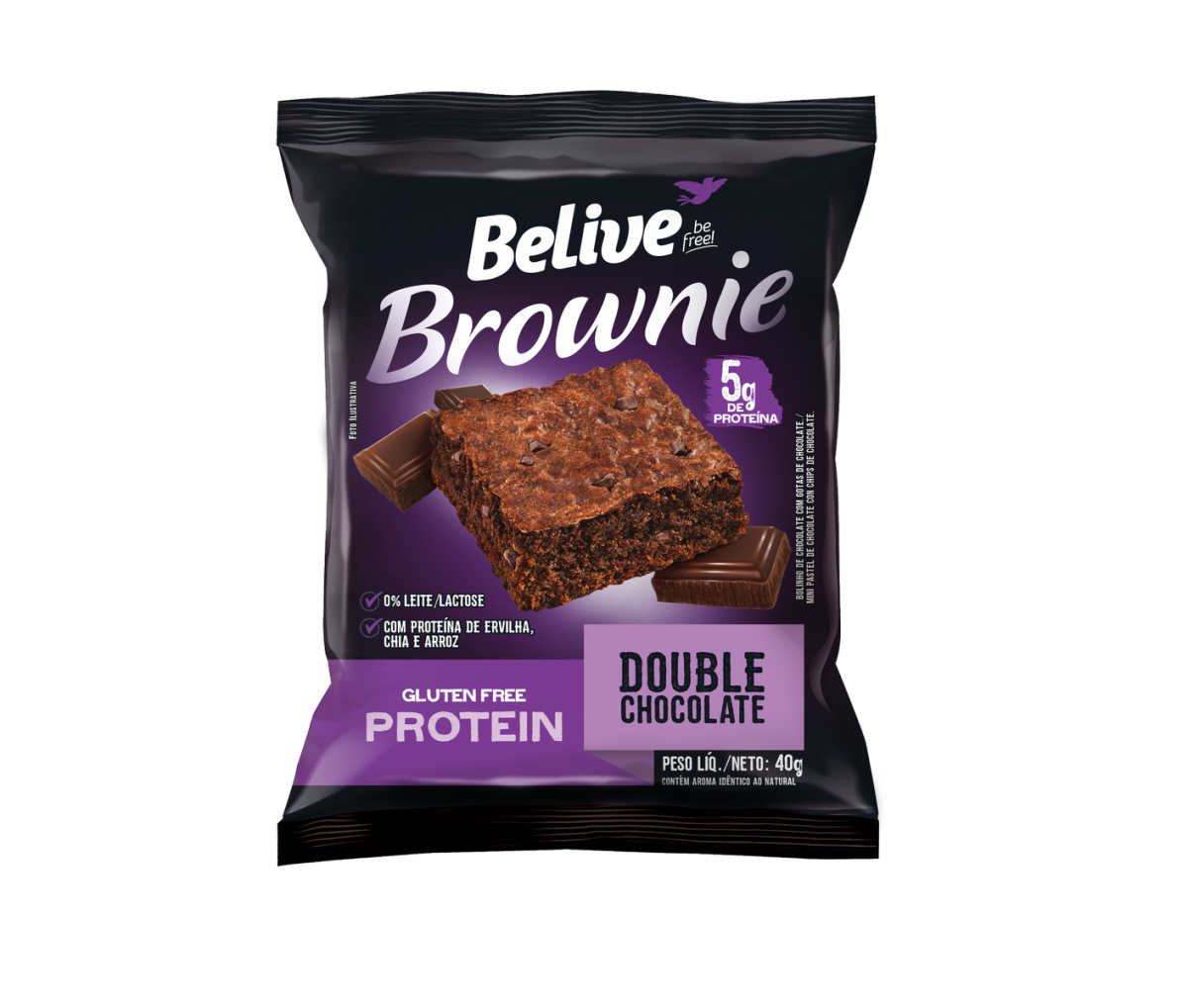Brownie Double Chocolate Protein 40g - Belive