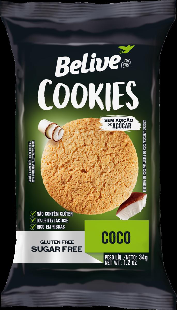 Cookie Sem Glúten Coco (34g) Belive