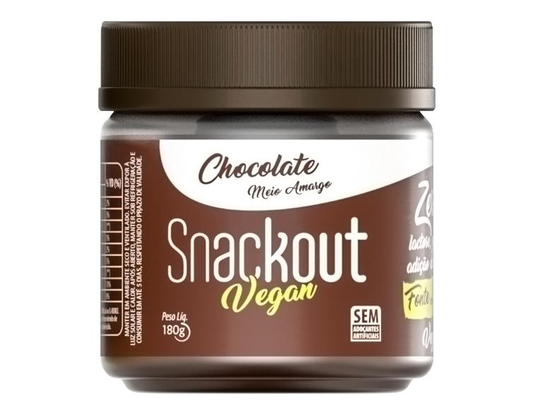 Doce Vegan Chocolate Meio Amargo (180g) Snackout