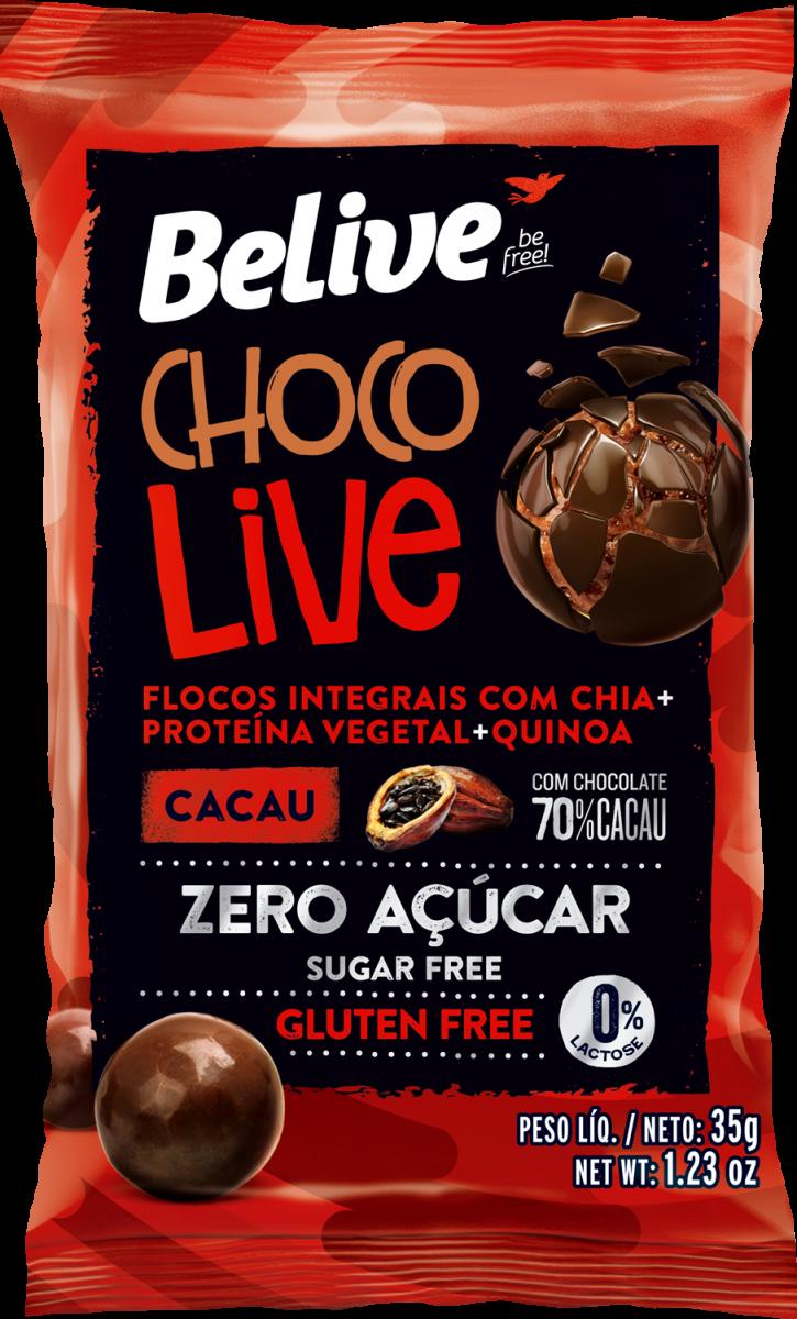 Drageado Chocolive 70% Cacau (35g) Belive