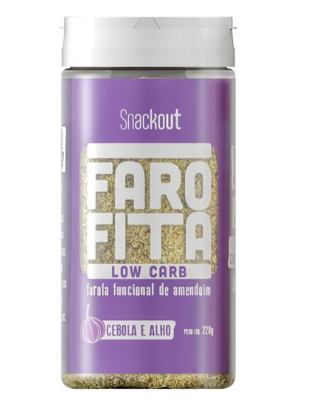 Farofita Low Carb Sabor Cebola e Alho (220g) Snackout