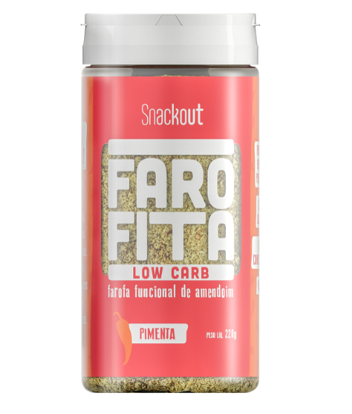 Farofita Low Carb Sabor Pimenta (220g) Snackout