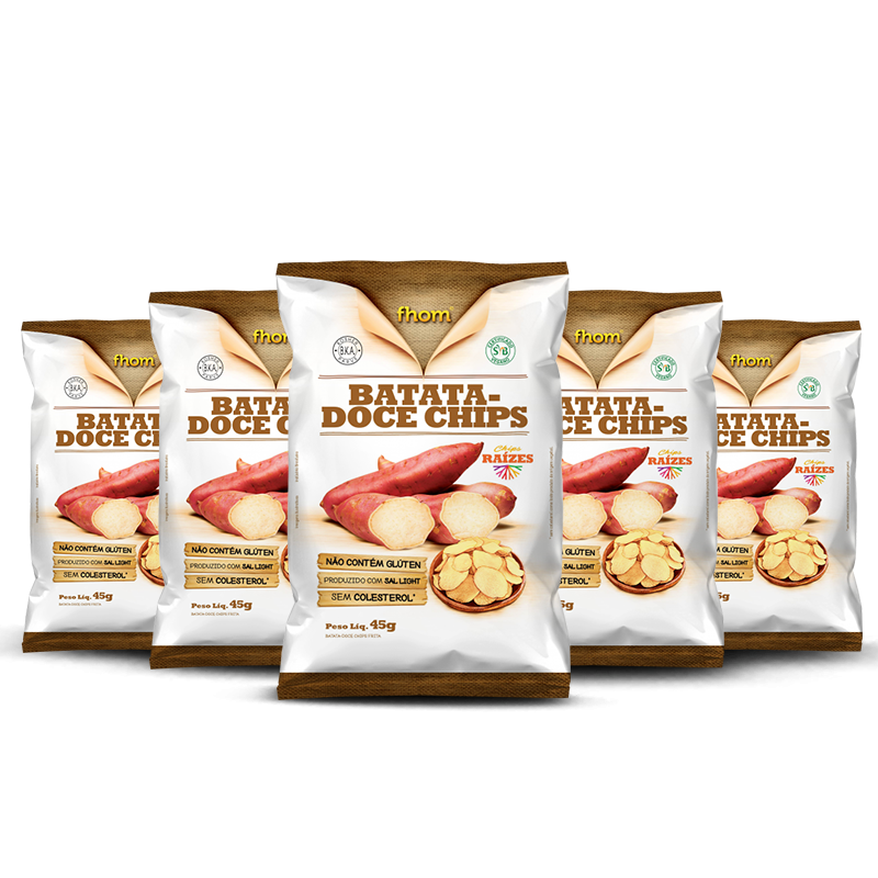 Combo Chips de Batata Doce (5unid - 45g) Fhom