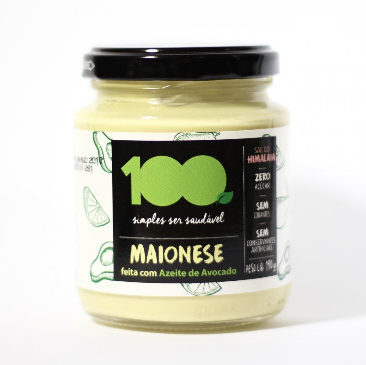 Maionese de Avocado 190g - 100 Foods