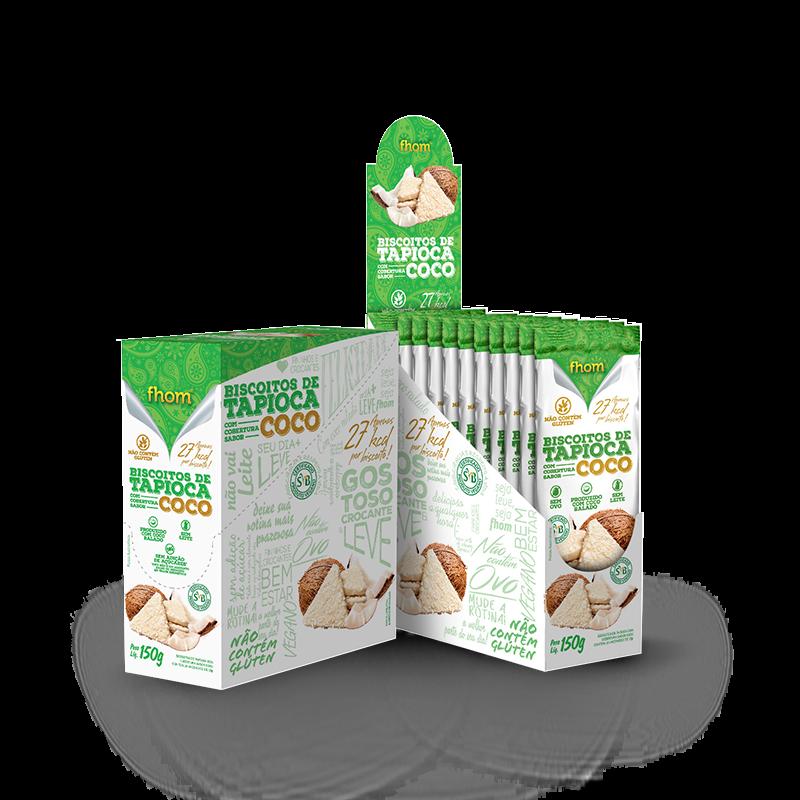 Biscoito de Tapioca com Coco (10unid-15g) Fhom
