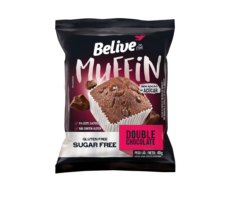 Muffin Double Chocolate Zero (40g) Belive