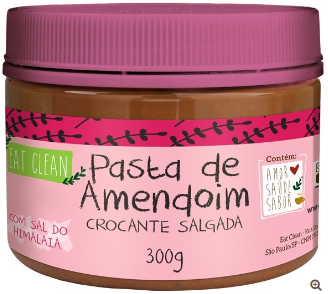 Pasta de Amendoim Crocante com Sal do Himalaia (300g) Eat Clean