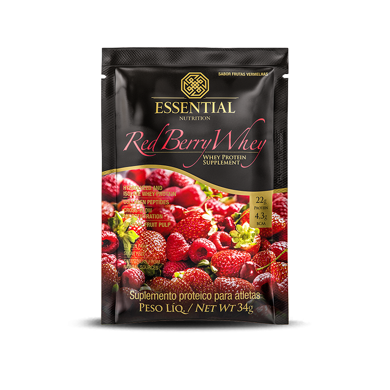 Red Berry Whey (Sachê-34g) Essential Nutrition