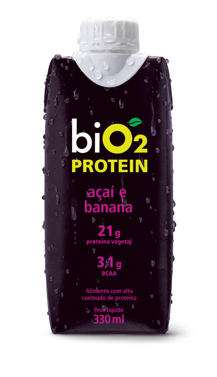 Shake Protein Açaí e Banana (330ml) BiO2