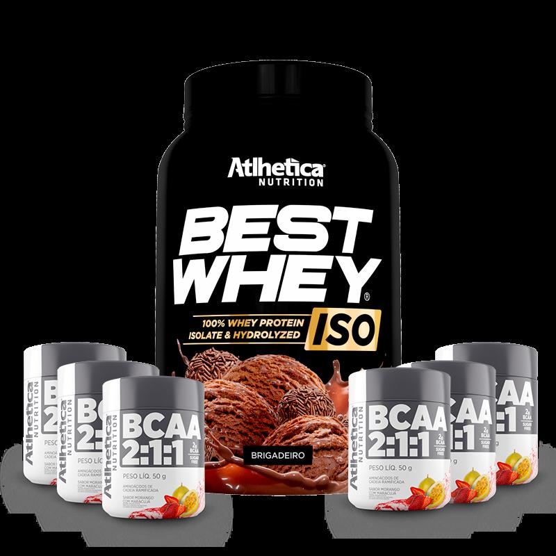 Best Whey ISO (900g) Atlhetica Nutrition + 300g BCAA Grátis