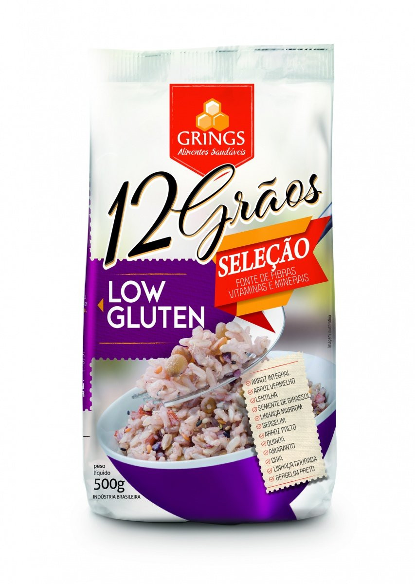 12 Grãos Low Glúten (500g) Grings