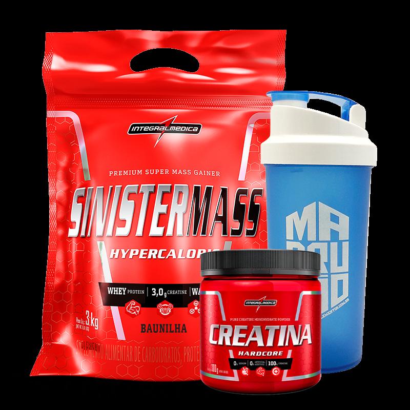 Sinister Mass (3000g) + Creatina Hardcore Reload (300g) IntegralMedica
