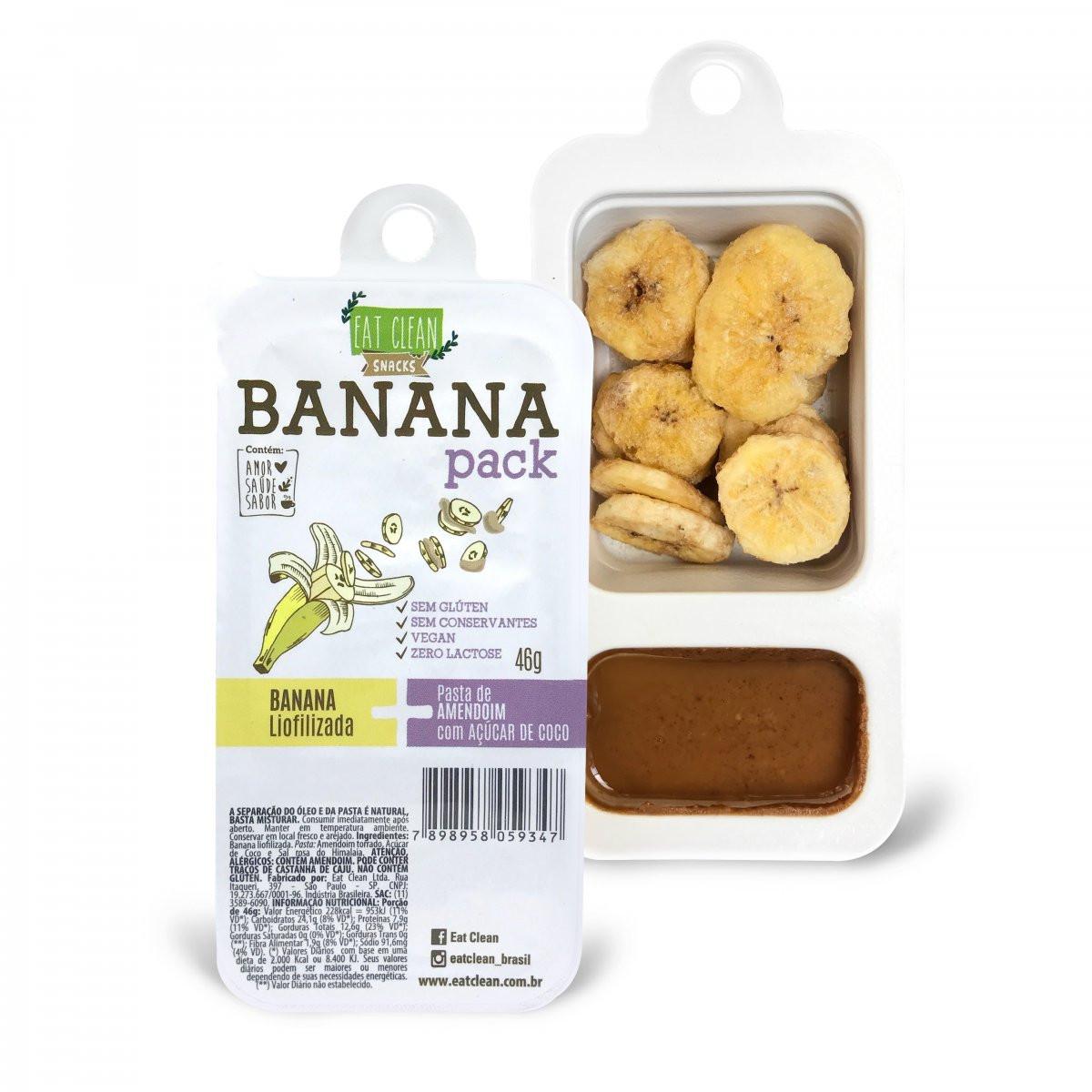 Banana Pack com Açúcar de Coco (46g) Eat Clean