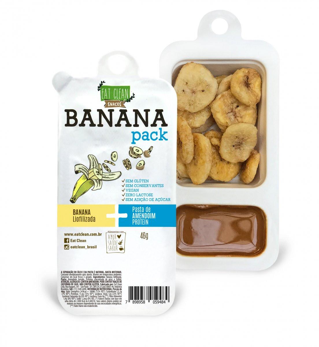 Banana Pack Protein Amendoim Protein (46) Eat Clean