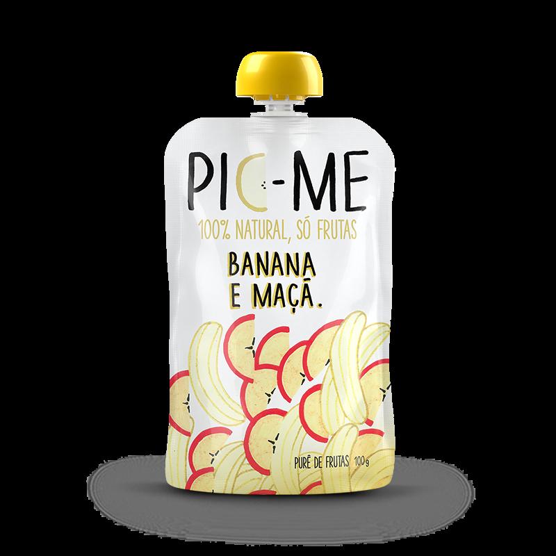 Purê de Frutas (100g) Pic Me-Banana e Maçã