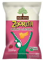Biscoito Zooreta Morango (20g) Mãe Terra