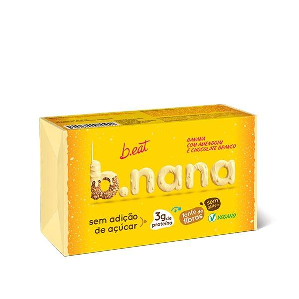 B.nana Amendoim com Chocolate Branco Pack (3unid-35g) B-Eat