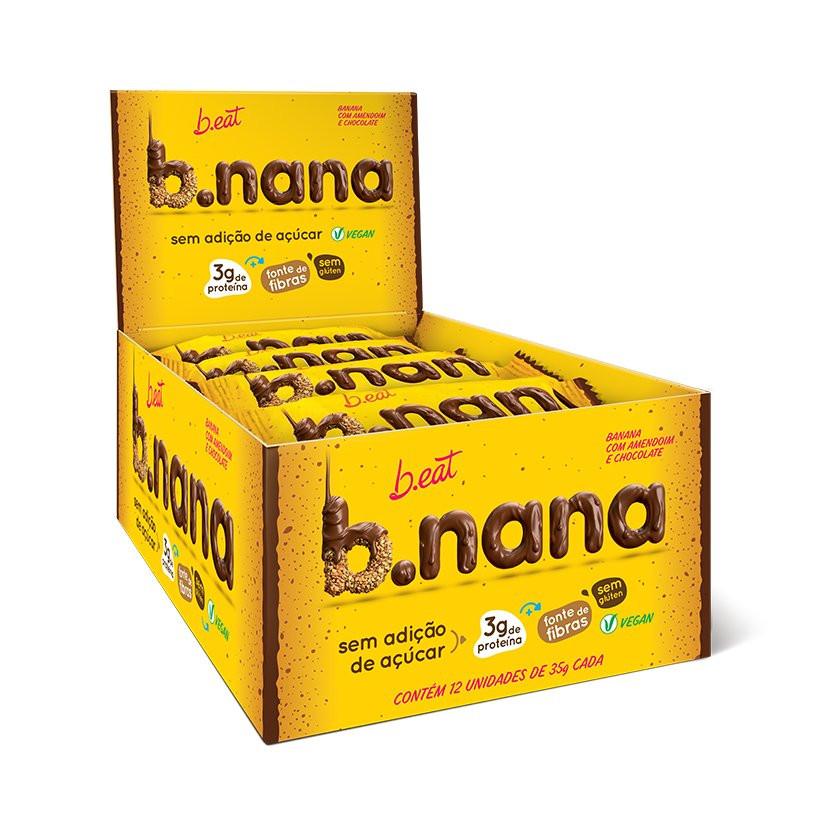 B.nana Amendoim com Chocolate Display (12unid-35g) B-Eat