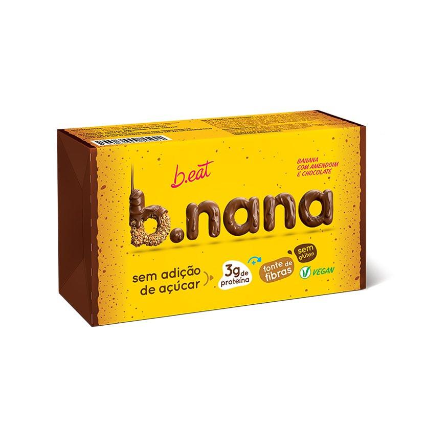 B.nana Amendoim com Chocolate Pack (3unid-35g) B-Eat