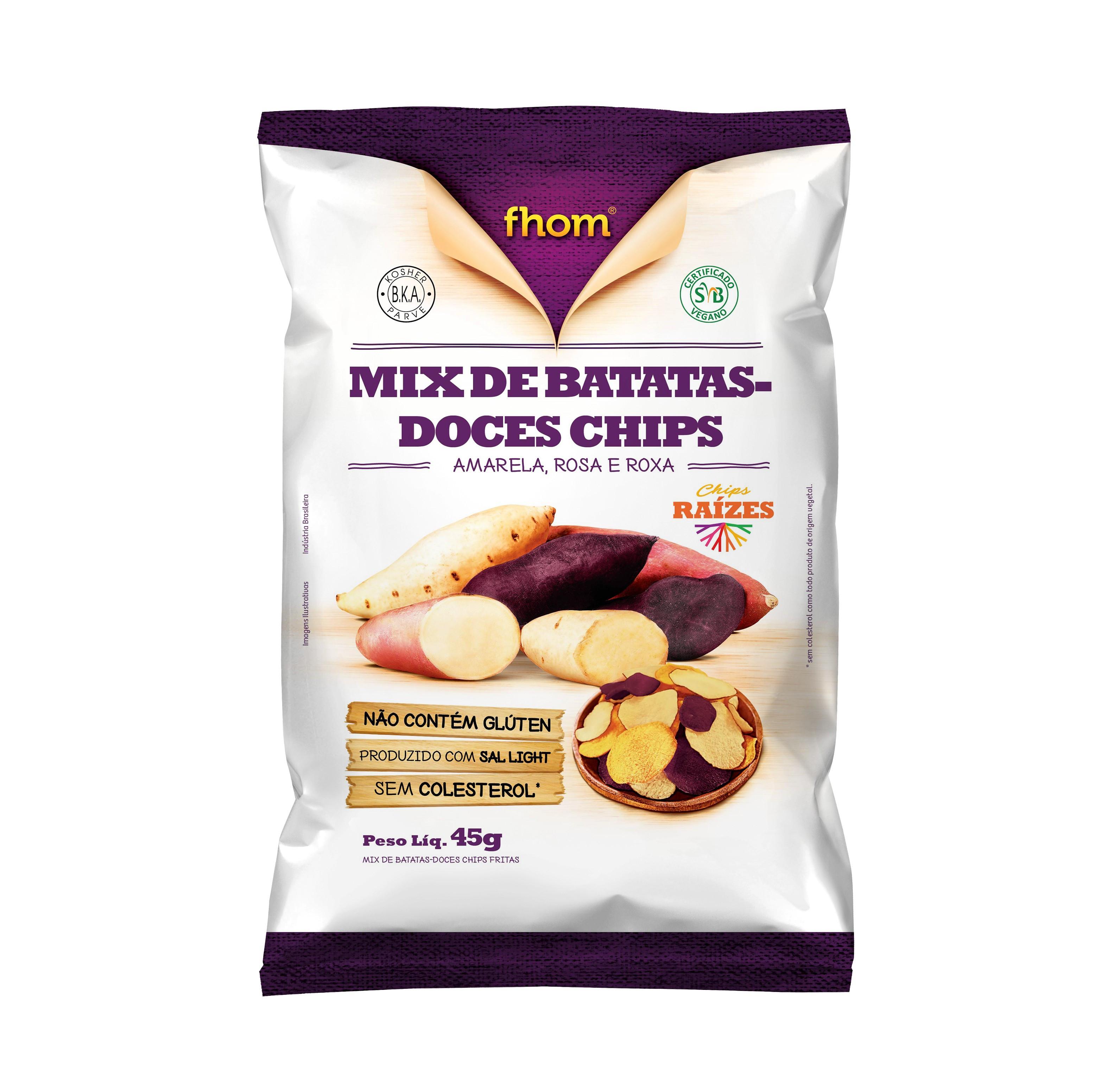 Mix de Batatas Doces Chips (45g) Fhom