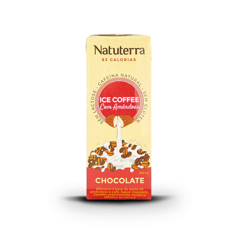 Café Gelado Com Amêndoa (200ml) Natuterra-Chocolate