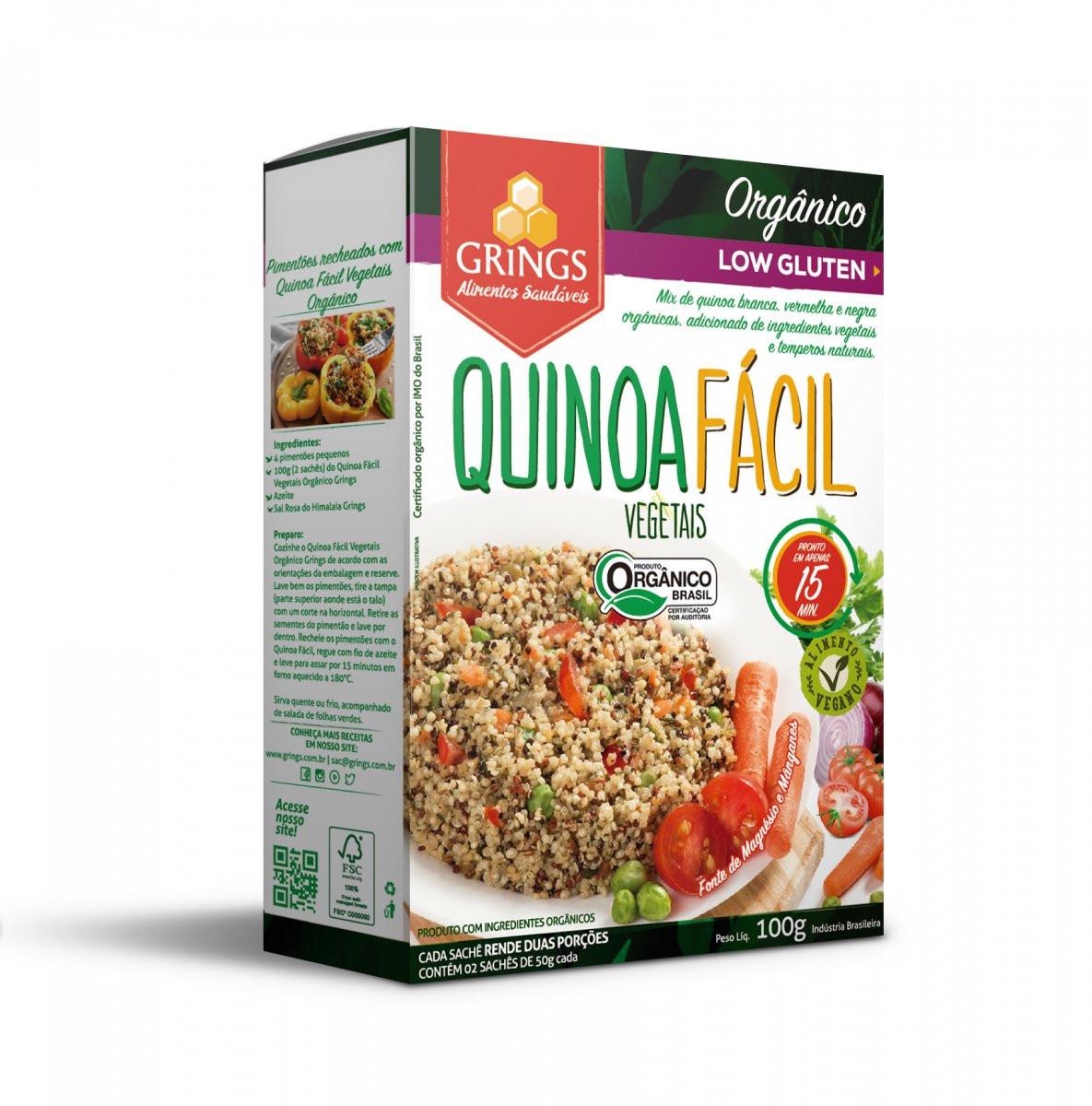 Quinoa Facil Vegetais (100g) Grings