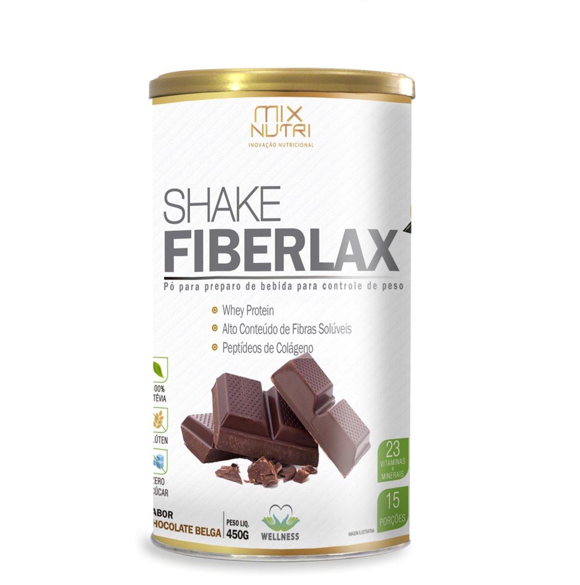 Shake Fiberlax (450g) Mix Nutri-Chocolate Belga
