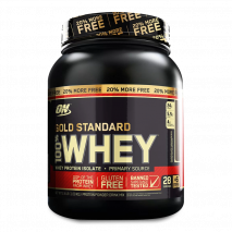 100% Gold Standard + 20% Extra Free (2,4lbs/1090g) Optimum Nutrition