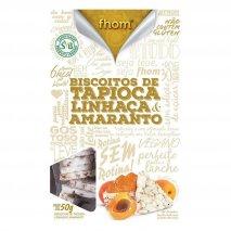 Biscoito de Tapioca com Linhaça e Amaranto (50g) Fhom