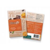 Chocolife Senses 71% Cúrcuma, Pimenta e Laranja (25g) Chocolife