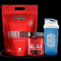Whey 100% Pure (Refil-907g) + BCAA 2:1:1 (90caps) IntegralMedica