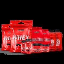 Kit Nutri Whey (2unid) + Bcaa (2unid) + Creatina (2unid) + Dextrozz (2unid) + Shaker