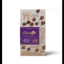 Drageado Açaí com Cobertura de Chocolife Senses 71% Cacau (40g) Chocolife