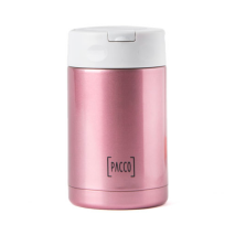 Food Jar com Colher Inox 500ml - Rose