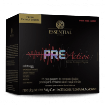 Pre Action Energy Drink (20 sachês de 27g) Essential Nutrition