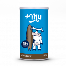 Pote de Whey Protein +Mu Chocolate (450g) +Mu
