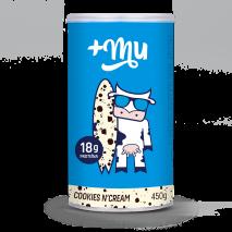 Pote de Whey Protein +Mu Cookies & Cream (450g) +Mu