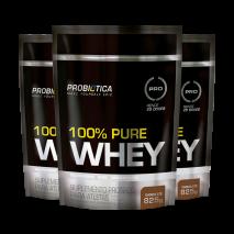 100% Pure Whey (3x825g) Probiótica