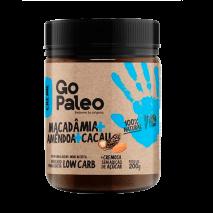 Creme Go Paleo Macadamia + Amêndoa + Cacau (200g) Super Saúde
