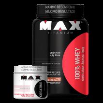 100% Whey Protein (900g) + Creatina Titanium (100g) Max Titanium