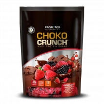 3w Choko Crunch Whey Protein Shake (555g) Probiótica-Chocolate com Frutas Vermelhas - 40% OFF