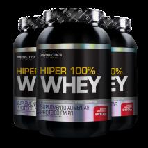 Hiper 100% Whey (3x900g) Probiótica