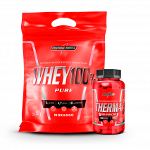 Whey 100% Pure (Refil-907g) + Therma Pro Hardcore (60caps) IntegralMedica