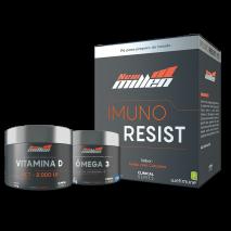 Combo Pro Imunidade Imuno Resist+Cúrcuma+ Ômega 3 com Vitamina E (60caps) New Millen