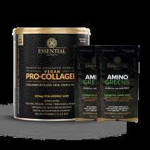 Pro-Collagen Vegan (330g) Essential Nutrition + Amostra Amino Greens Essential Nutrition