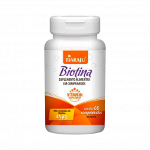 Biotina 250mg (45mcg) (60comp) Tiaraju